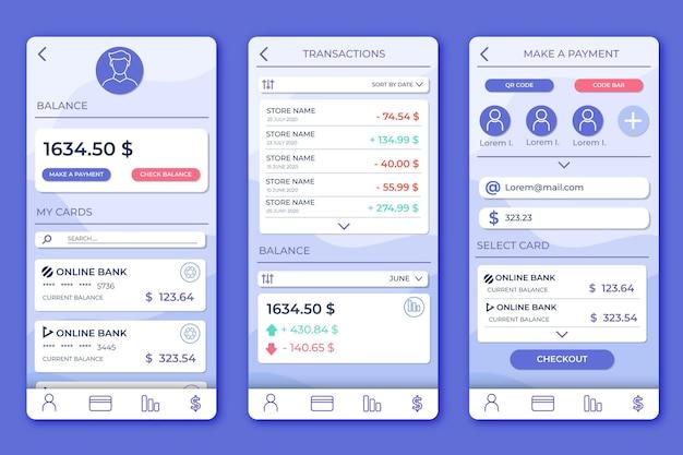 Stil der banking-app-oberfläche