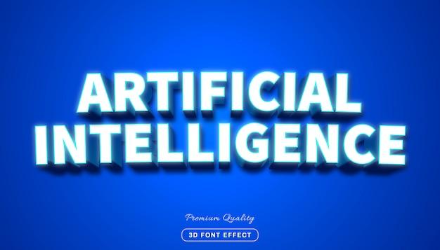 Stil der künstlichen intelligenz, bearbeitbarer texteffekt