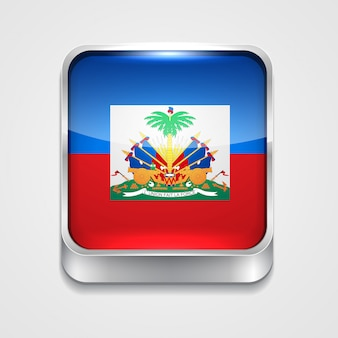 Stil flaggenikone von haiti