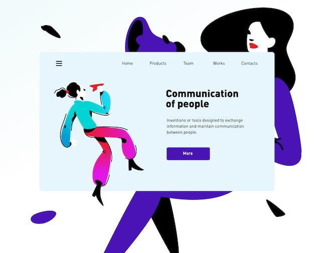Stil für die website über kommunikation