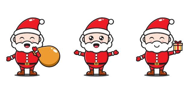 Stilausdrücke des weihnachtsmannes