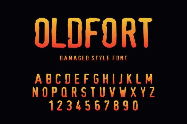 Stilisierte bunte schrift und alphabet für logo-designs