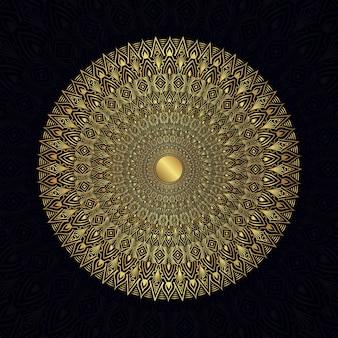 Stilisierte mandalas zentangle ornament floral vector gold