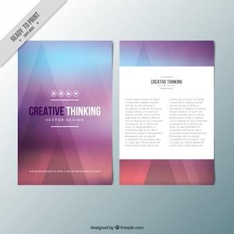 Stilvolle abstrakte broschüre