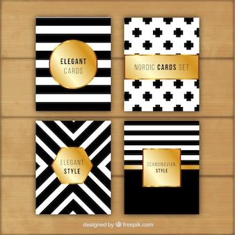 Stilvolle abstrakte schwarz-weiß-karten