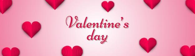 Stilvolle beschriftung des valentinstags auf glattem rosa hintergrund d