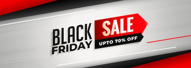 Stilvolle black friday sale und rabatt banner vorlage