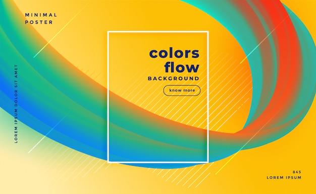 Stilvolle farben fließen abstrakten hintergrund