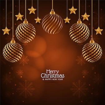 Stilvolle frohe weihnachten dekorativ