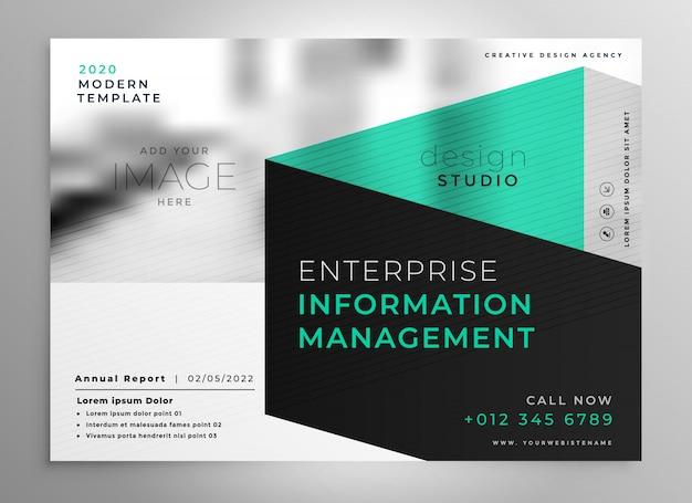 Stilvolle geometrische professionelle broschüre vorlage