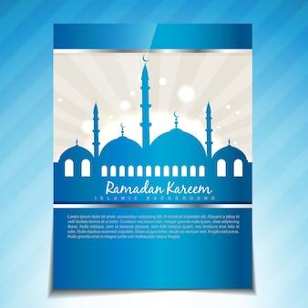 Stilvolle islamische festival-vektor-vorlage