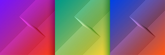 Stilvolle linien formen backgrouns in leuchtenden farben