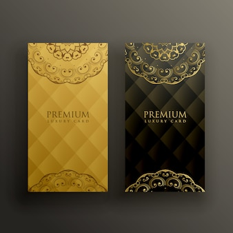 Stilvolle mandala premium-goldenen kartenentwurf