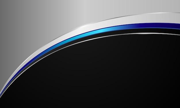 Stilvolle moderne technologie, entworfen von blauen und schwarzen kurven.
