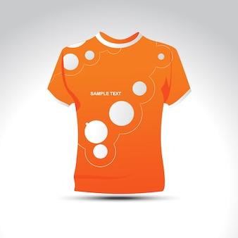 Stilvolle orage farbe t-shirt design vektor