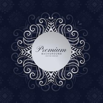 Stilvolle premium-mandala-rahmen floral background design