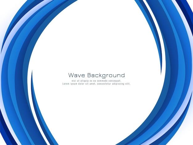 Stilvolle schöne blaue welle fließender design-hintergrundvektor
