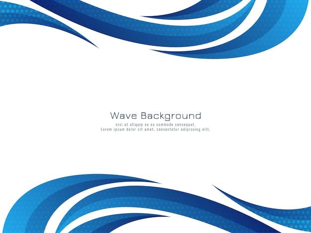 Stilvolle schöne blaue welle fließender hintergrund wave
