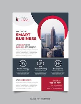 Stilvolle und moderne business flyer vorlage premium