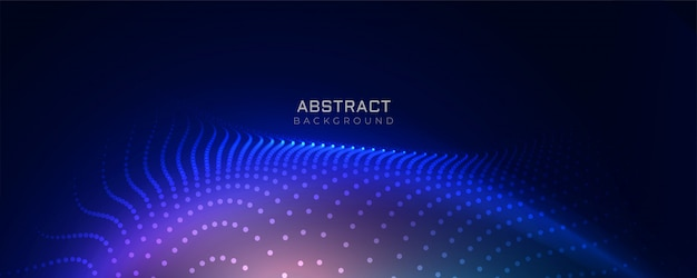 Stilvoller blauer technologiepartikelhintergrund