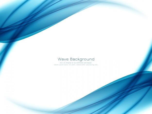 Stilvoller eleganter blauer wellenhintergrund