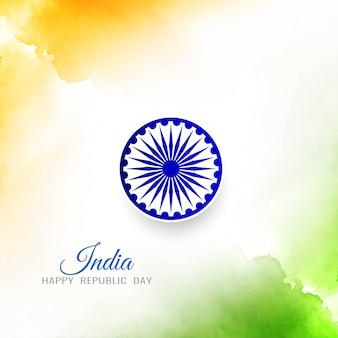 Stilvoller eleganter hintergrund der indischen flagge