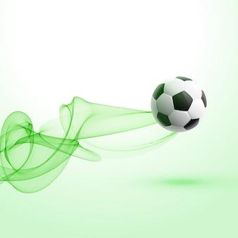 Stilvoller Fußballturnierhintergrund mit grüner Welle