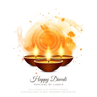 Stilvoller glücklicher dekorativer hintergrund diwali