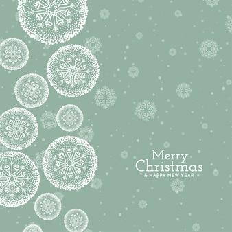 Stilvoller grußhintergrund des frohen weihnachtsfestes