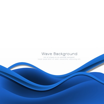 Stilvoller hintergrund der abstrakten blauen welle