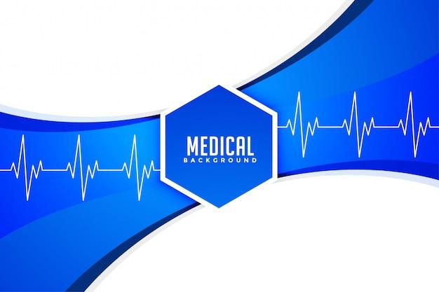 Stilvoller hintergrund des medizinischen und gesundheitskonzepts