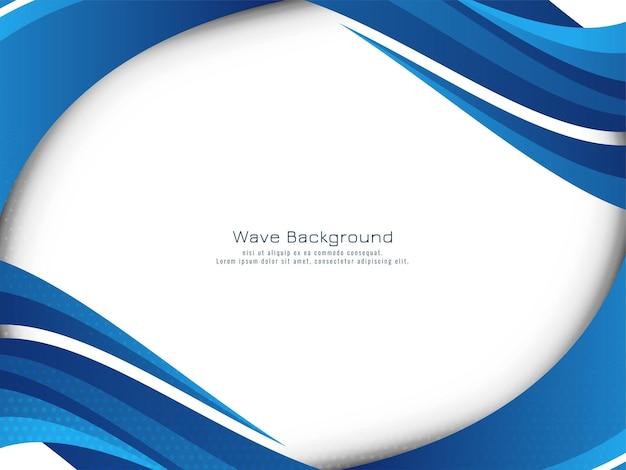 Stilvoller hintergrundvektor des eleganten modernen blauen wellendesigns