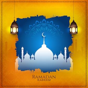 Stilvoller islamischer hintergrund des ramadan kareem