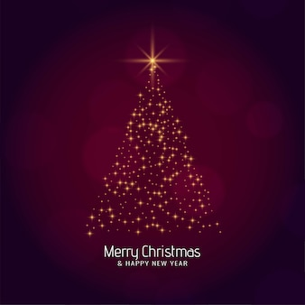 Stilvoller moderner baum der frohen weihnachten