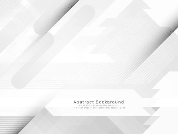 Stilvoller moderner grauer und weißer geometrischer hintergrundvektor