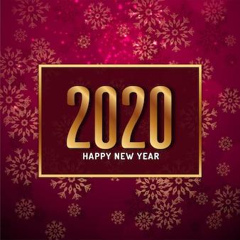 Stilvoller moderner hintergrund des guten rutsch ins neue jahr 2020