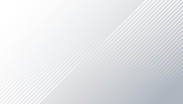 Stilvoller weißer hintergrund mit diagonalen linien