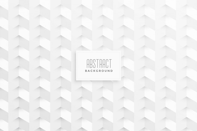Stilvoller weißer hintergrund mit geometrischen formen