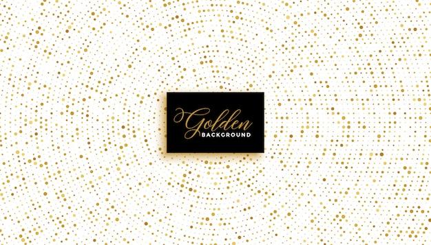Stilvoller weißer hintergrund mit goldenem glitzereffekt