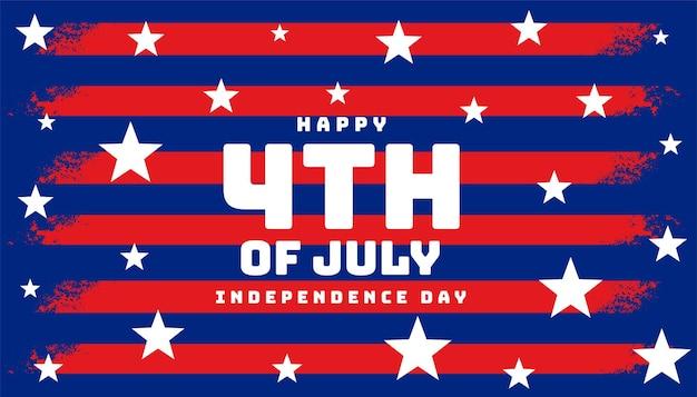 Stilvolles 4. juli flaggen-banner-design