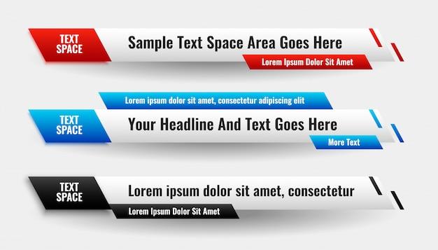 Stilvolles bannerdesign des modernen abstrakten unteren drittels