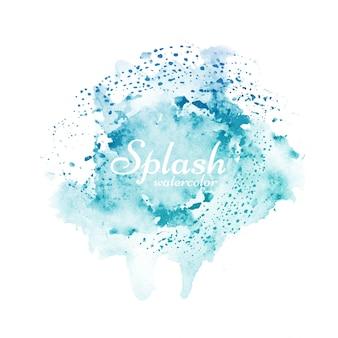 Stilvolles blaues aquarellspritzen