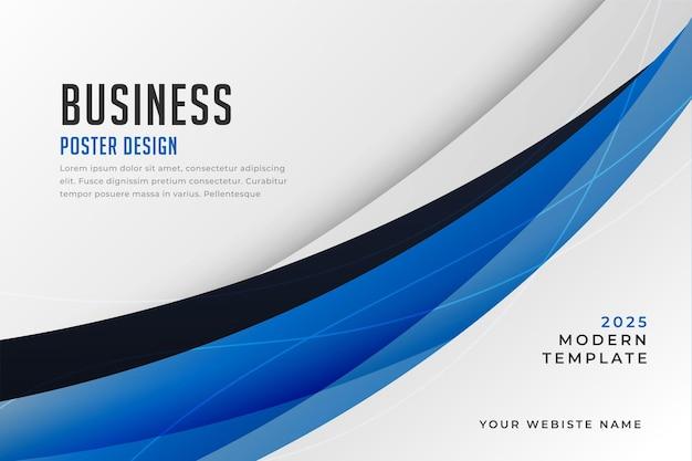 Stilvolles blaues design für die präsentationsvorlage