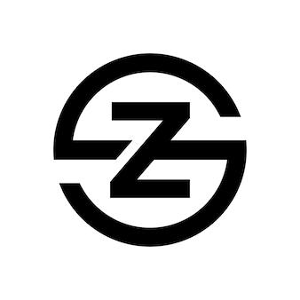 Stilvolles buchstabe s-symbol kombination mit buchstaben z