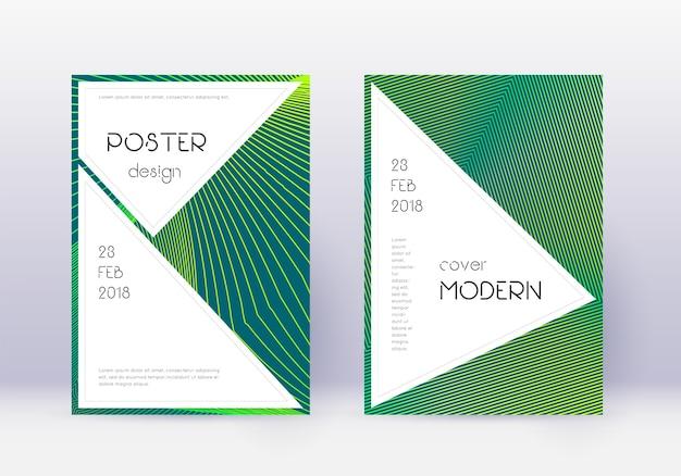 Stilvolles cover-design-vorlagenset