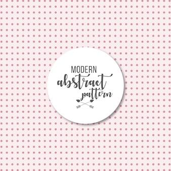 Stilvolles erröten rosa modernen vektormusterhintergrund mit punkten