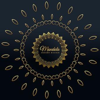 Stilvolles goldenes mandala-dekoratives design