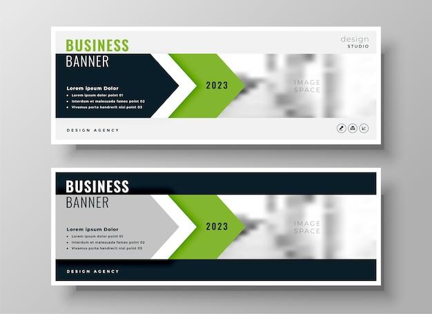 Stilvolles grünes facebook-cover oder kopfzeilenschablonendesign des unternehmensgeschäfts