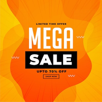 Stilvolles orange-gelbes banner-design im mega-sale
