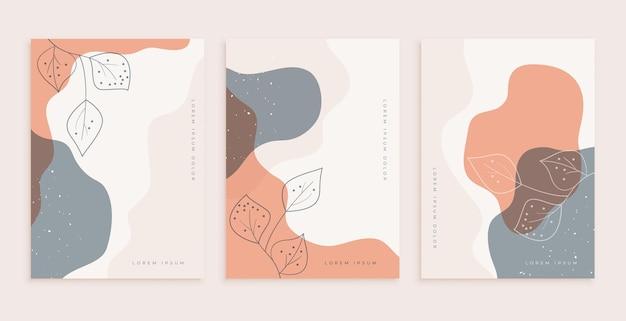 Stilvolles posterdesign für die wanddekoration mit blättern